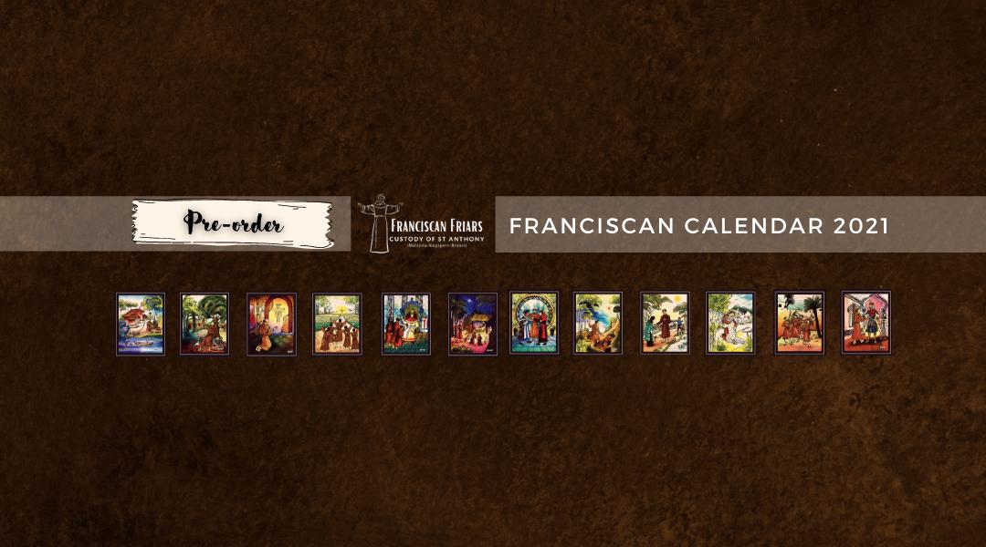 Franciscan Calendar 2021 Pre-order